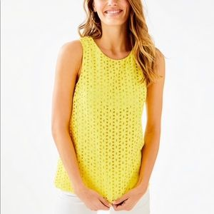 NWT XS Lilly Pulitzer Pineapple Yellow Iona Top